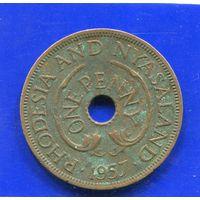 Южная Родезия. 1 пенни 1957. EII