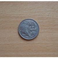 Австралия, 20 центов 1976 г.