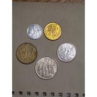 Эфиопия набор 5 монет
