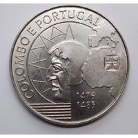Португалия 200 эскудо 1991 г. Колумб.