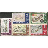 Бермуды. Старые карты островов. 1979г. Mi#379-63. Серия.