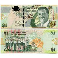 Багамы. 1 доллар (образца 2008 года, P77, UNC)
