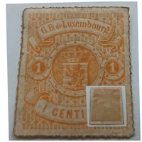 Нечастая марка!!! Люксембург 1865 -1875 Coat of Arms - Colored Rouletted Perforation!!! Достойное состояние, MH!!! Оригинал!!!