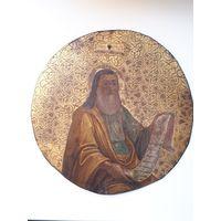 Икона Таблетка  19 век. Золочение. 23 см