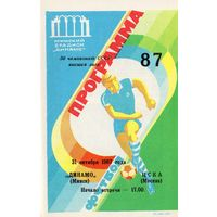 Динамо Минск - ЦСКА 31.10.1987г.