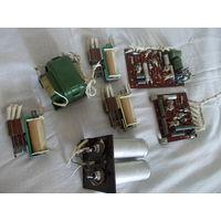 Платы и детали от блока пож. сигнализации СССР трансформатор конденсаторы транзистор П307В