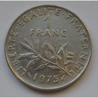 Франция, 1 франк 1975 г.
