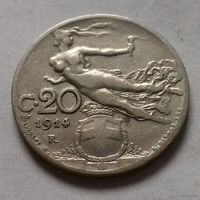 20 чентезимо, Италия 1914 г.