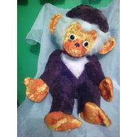 Старая плюшевая обезьянка СССР.Шарнирная.60 см.Редкая!