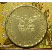 Американские Филиппины 1 песо 1907 г