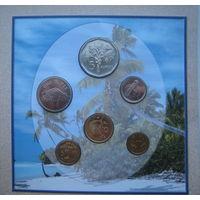 Сейшельские острова (Сейшелы)  1, 5, 10, 25 центов, 1, 5 рупий 2004 - 2010 гг. Набор 6 монет в буклете