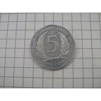 Восточно Карибские штаты 5 центов 2004г. km36