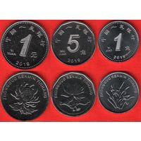 Китай набор 3 монеты 2019 UNC