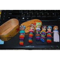 Куклы Перу ручной работы в родной коробочке, - вполне возможно, что могут быть и куклами Вуду;)!