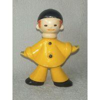 Пьеро из набора Буратино Золотой ключик колкий пластик винтаж СССР