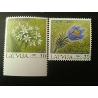 Латвия. 2005г. Цветы.