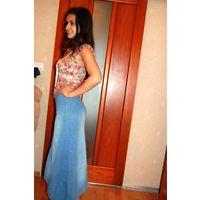 Шикарная стильная джинсовая юбка Макси р. 44-46