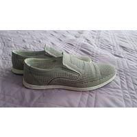 Мужские летние ботинки натуральная кожа