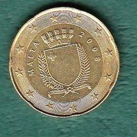 МАЛЬТА 20 евро центов  2008 год