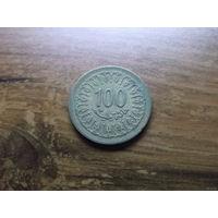 Тунис 100 миллимов 1980
