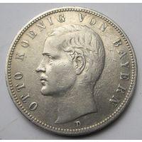 Германия, Бавария, 5 марок, 1913, серебро