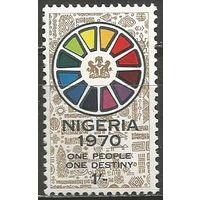 Нигерия. Национальный герб. 1970г. Mi#230.