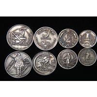 Набор 4 монеты 1,2,3,5 копеек 1926 г посеребрение пробные #2