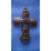 Крест ожурный, большой  с камушком. 65Х48 мм. распродажа