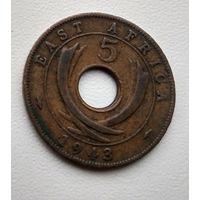 Британская Восточная Африка 5 центов, 1943 3-1-8