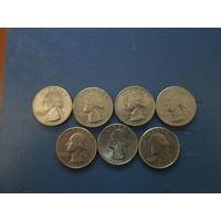 Квотер (25 центов) США.