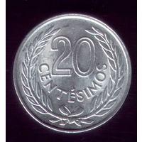 20 сентессимо 1965 год Уругвай