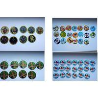 Фишки (кэпсы) Caps of Monsters, Bionicle, Тачки, Harry Potter, TMNT, Shrek, Звезды бокса, POG (96шт.)