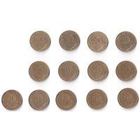Франция, 20 сантимов centimes. ПОГОДОВКА, 1963-1996