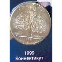 25 центов 1999 США Коннектикут