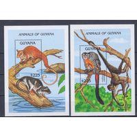 [1986] Гайана 1992. Фауна.Животные. 2 БЛОКА.