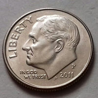10 центов (дайм) США 2011 Р, AU