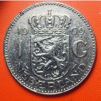 32-05 Нидерланды, 1 гульден 1969 г.