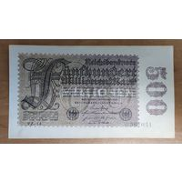 500 000 000 (500 миллионов) марок 1923 года - Германия - XF-AUNC