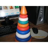 Игрушка пирамидка елочка