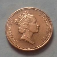 1 пенни, Великобритания 1987 г., AU