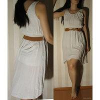 Платье летнее, с ремешком (нов.), размер M   Состав: хлопок 95%, эластан 5%