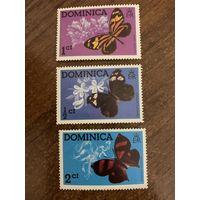 Доминика 1975. Бабочки. Полная серия