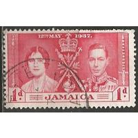 Ямайка. Королева Елизавета и король Георг VI. 1937г. Mi#115.