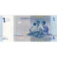 Конго, 1 франк, 1997 г. (Лумумба) Редкий в UNC