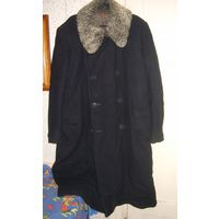 Пальто зимнее мужское/женское унисекс р.52-54 с натуральным каракулем