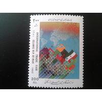 Иран 1992 межд. встреча в Тегеране, флаги