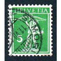 43: Швейцария, почтовая марка, 1910 год, номинал 5с, SG#263
