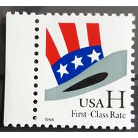"Почтовая марка 1998 ""H"" Stamp - First Class rate (33 cents) - США"