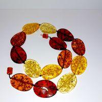 Красивые современные бусы искусственный янтарь, имитация