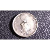 20 сентаво 1944. Филиппины. Администрация США. Серебро 0.750. Хорошая!